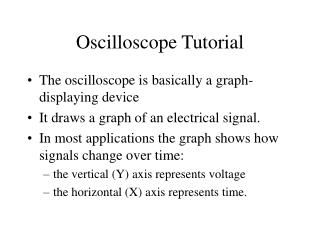 Oscilloscope Tutorial
