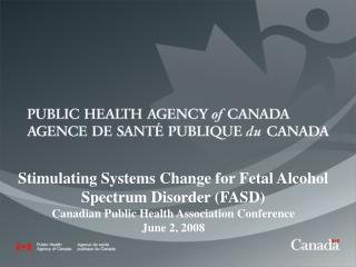 Stimulating Systems Change for Fetal Alcohol Spectrum Disorder (FASD)