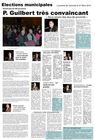 Elections municipales La presse de Carentan le 21 Mars 2014