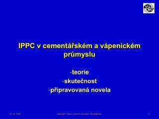 IPPC v cementářském a vápenickém průmyslu