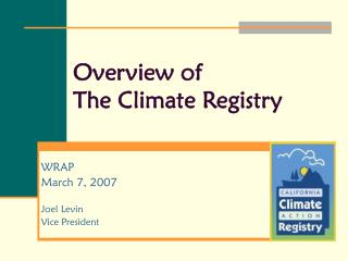 Overview of The Climate Registry