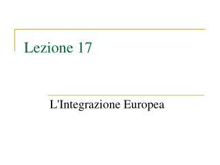 Lezione 17