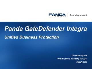 Panda GateDefender Integra Unified Business Protection Giuseppe Gigante