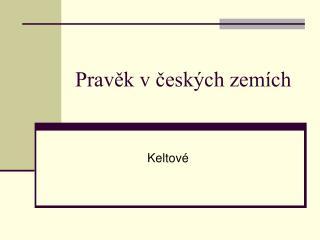 Pravěk v českých zemích
