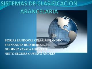 SISTEMAS DE CLASIFICACION ARANCELARIA