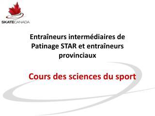 Cours des sciences du sport