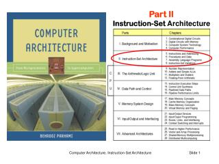 Part II Instruction-Set  Architecture