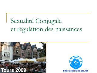 Sexualité Conjugale et régulation des naissances
