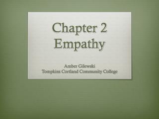 Chapter 2 Empathy