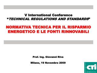 V International Conference