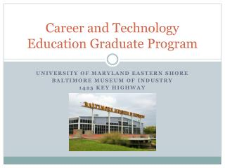 Career and Technology Education Graduate Program