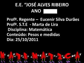 "E.E. ""JOSÉ ALVES RIBEIRO ANO"