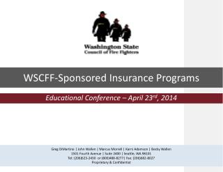 Educational Conference – April 23 rd , 2014