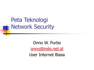Peta Teknologi Network Security