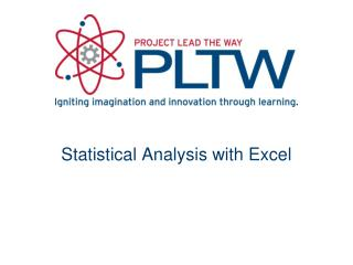 Statistical Analysis with Excel
