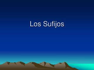 Los Sufijos
