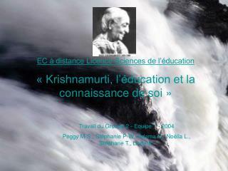 EC à distance Licence Sciences de l'éducation