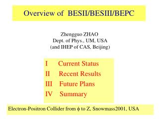 Overview of  BESII/BESIII/BEPC