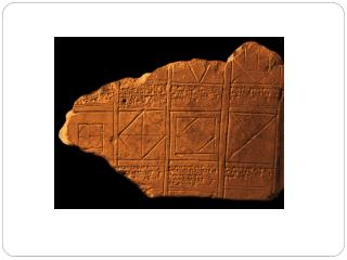These documents were found on clay cylinders and date from about 2500 BC.