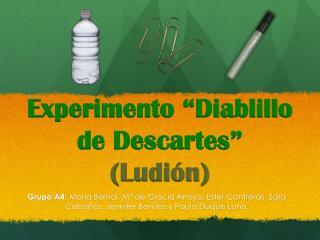 """Experimento """"Diablillo de Descartes """" (Ludión )"""