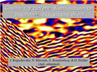 Cosmic ray current-driven turbulence and mean-field dynamo effect