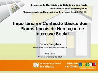 Encontro de Municípios do Estado de São Paulo Referências para Elaboração de