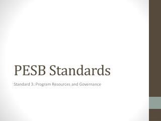 PESB Standards