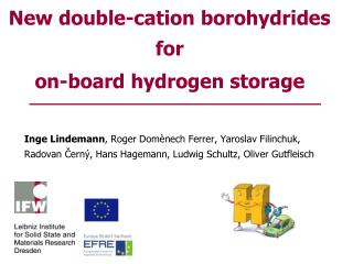 New double-cation borohydrides for  on-board hydrogen storage