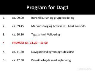 Program for Dag1