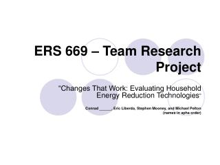 ERS 669 – Team Research Project