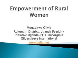 Empowerment of Rural Women