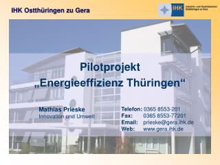 "Pilotprojekt ""Energieeffizienz Thüringen"""