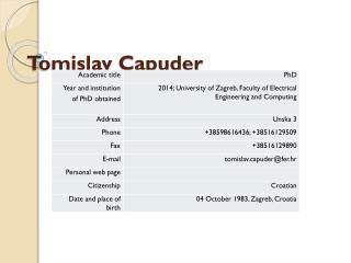 Tomislav Capuder