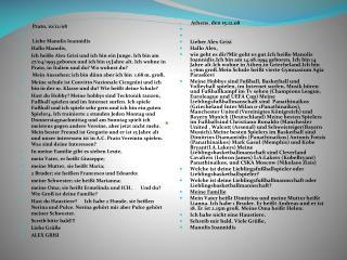 Prato, 10/12/08 Liebe Manolis Ioannidis Hallo Manolis,