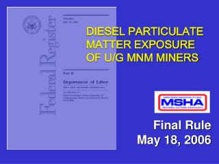 Final Rule May 18, 2006