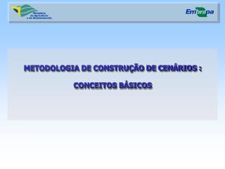 METODOLOGIA DE CONSTRUÇÃO DE CENÁRIOS : CONCEITOS BÁSICOS