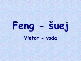 Feng - šuej