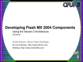 Developing Flash MX 2004 Components