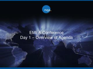 EMEA Conference Day 1 – Overview of Agenda