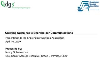 Creating Sustainable Shareholder Communications