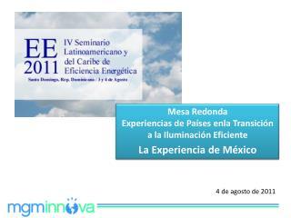 Mesa Redonda Experiencias de Países enla Transición a la Iluminación Eficiente