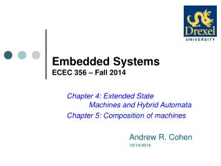 Embedded Systems ECEC 356 – Fall 2014