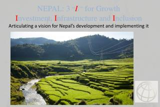 Nepal's main development challenge  is to  boost growth