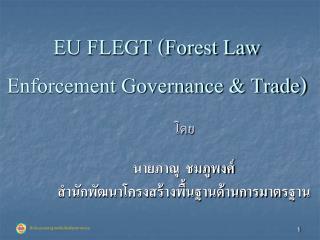 EU FLEGT (Forest Law Enforcement Governance & Trade)