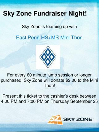 Sky Zone Fundraiser Night!