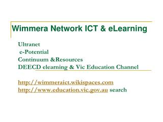 Wimmera Network ICT & eLearning