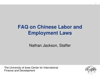 FAQ on Chinese Labor and Employment Laws