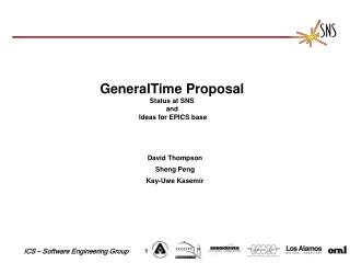 GeneralTime Proposal Status at SNS and Ideas for EPICS base