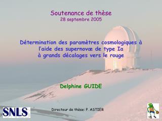 Soutenance de thèse 28 septembre 2005