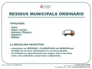 RESIDUS MUNICIPALS ORDINARIS